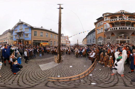 Narrenbaumstellen in Stockach in 360-Grad