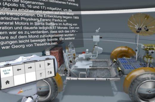 Demoversion des ExpoDecks: Darstellung der digitalisierten Objekte im virtuellen Ausstellungsraum