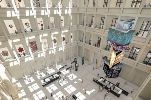 Blick von oben in das Foyer (Visualisierung)
