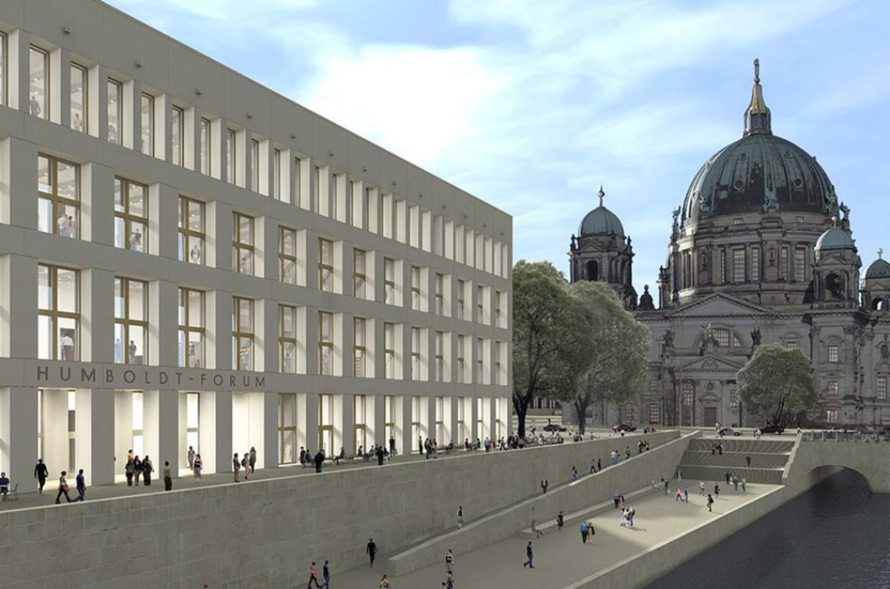 East front with view of the Berlin Cathedral (3D visualization)