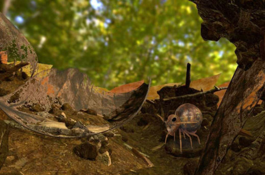 leaf litter habitat in virtual reality