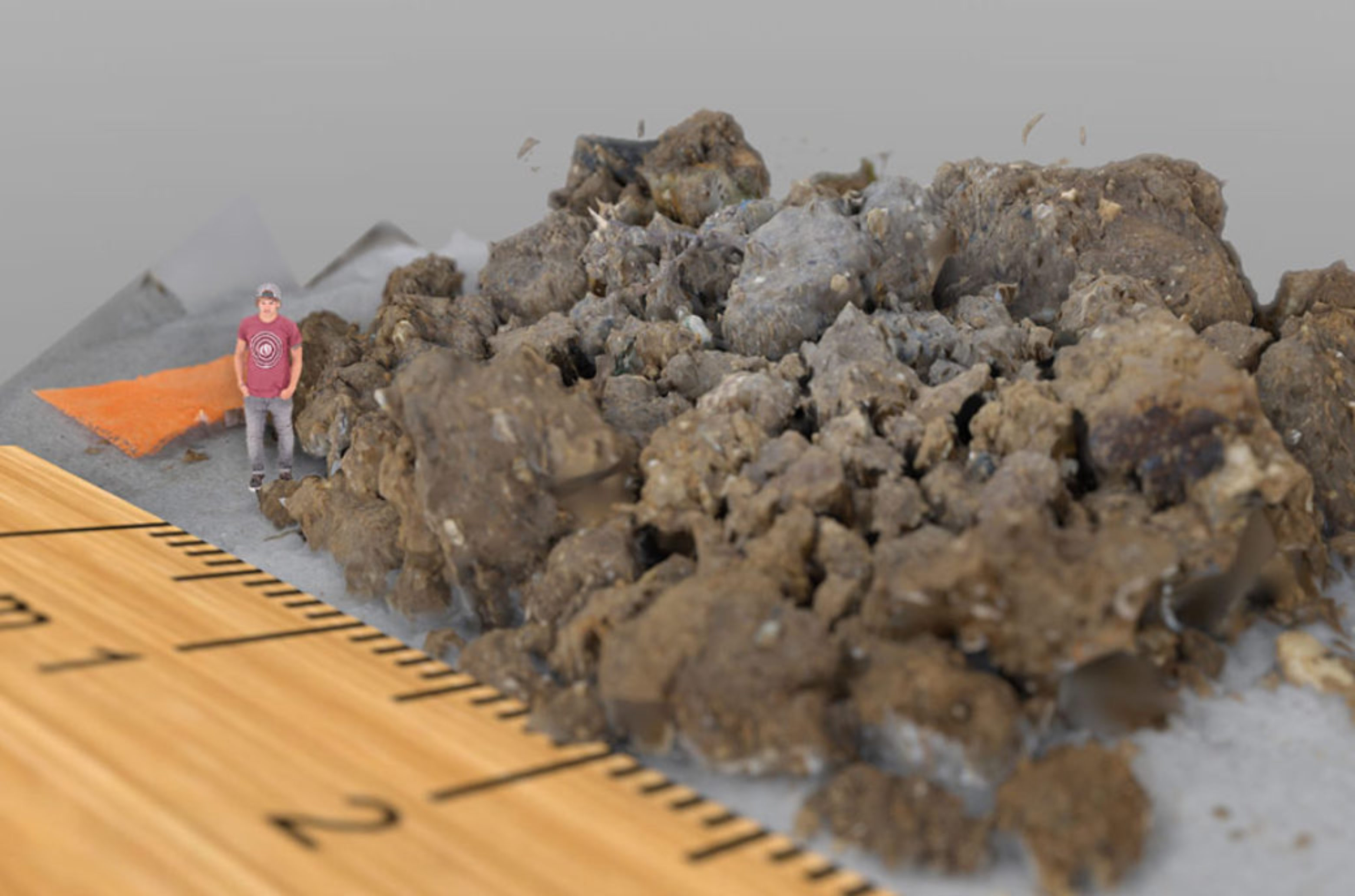 Digitally shrunk to the size of a soil animal: To immerse themselves in the pore space, the users assume the perspective of small soil creatures.