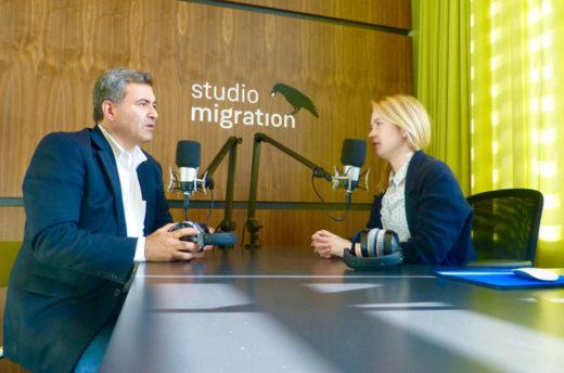 Oral-History-Interview im museumseigenen Aufnahmestudio