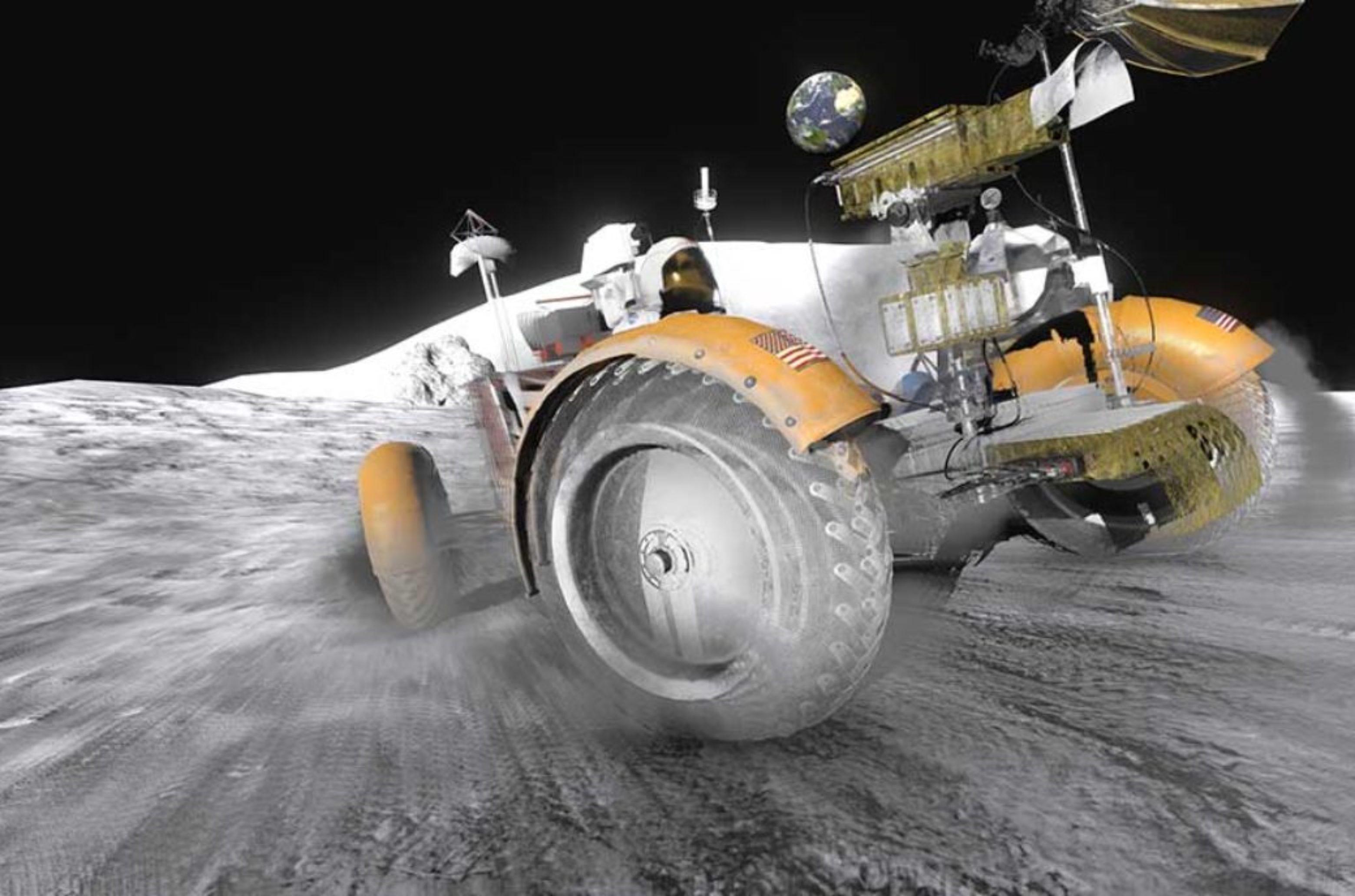 Aus einem Projekt des Deutschen Museums: 3D-digitalisiertes Mondauto, das BesucherInnen über eine virtuelle Mondoberfläche steuern können © Deutsches Museum / Time in the Box GmbH