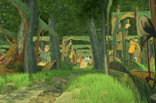 Zusammen mit ZEDIKUM erprobte BeWeB-3D prototypisch die Übersetzung von Bewegungsbuch-Digitalisaten in erste Spielewelten – hier zum Beispiel als VR-Labyrinth. Bild: SBB-PK / ZEDIKUM