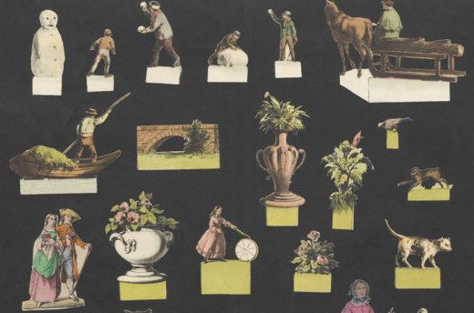 Auswahl an Papierfiguren für Papierbühnen