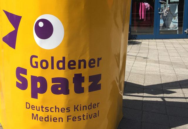 """Als Nominierte waren wir zu Gast beim Deutschen Kinder Medien Festival """"Goldener Spatz"""", Foto:  K. Baber"""