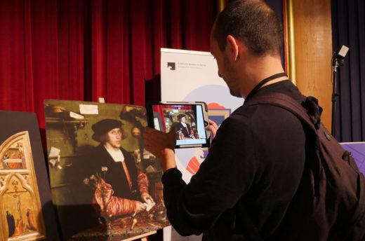 App-Nutzer auf dem Symposium Digitalwerkstatt Museum