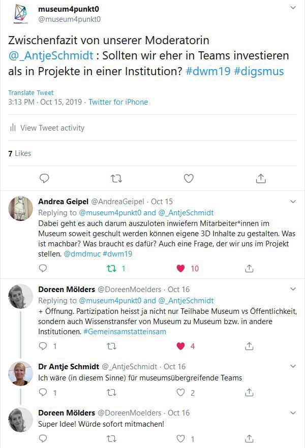Twitter-Thread zum Symposium Digitalwerkstatt Museum von museum4punkt0