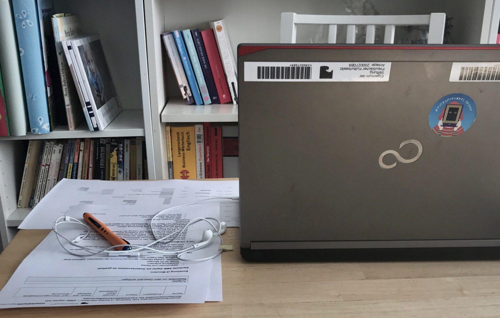 Testaufbau im Home-Office
