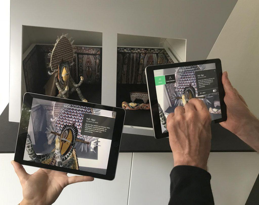 Modell des Kulthauses der Abelam mit AR-Technologie