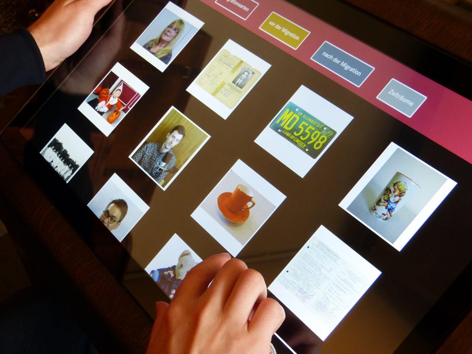""": Einzelne Informationsseite des """"Biographien-Portals"""" in der Anwendung"""