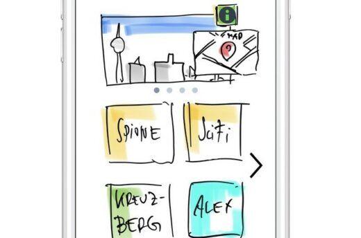 Smartphone-Ansicht des Prototypen
