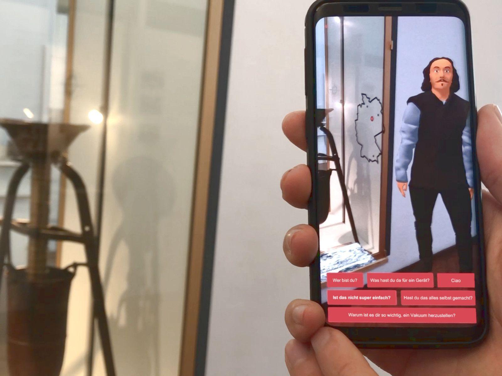 Wissenschaftler als AR Guide im Museum