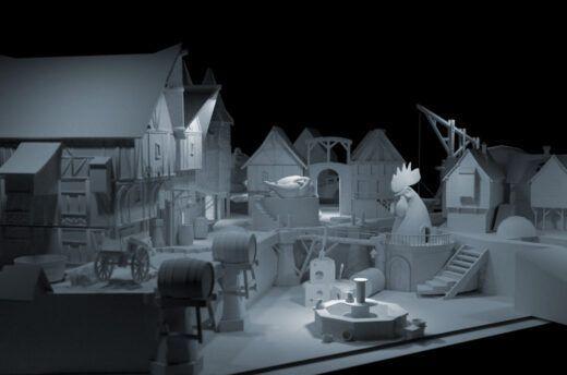 Modellierungen von Gebäuden für die Darstellung einer mittelalterlichen Stadt