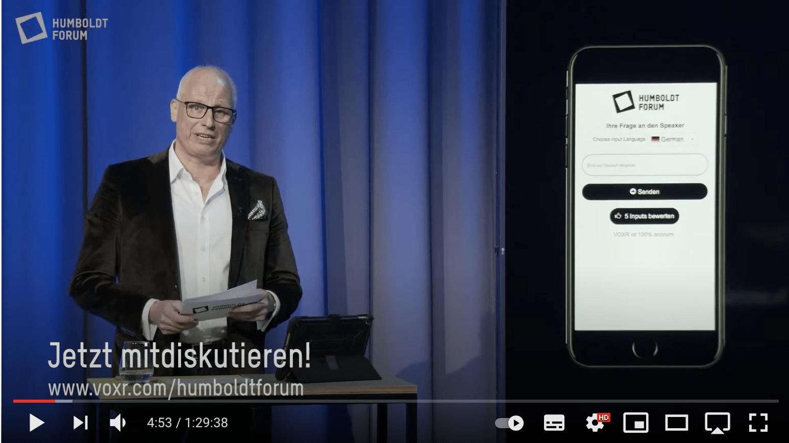 Moderator Volker Wieprecht